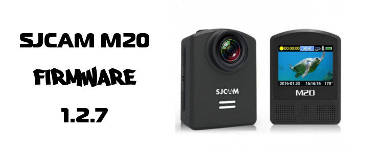 SJCAM M20 action kamera päivitys