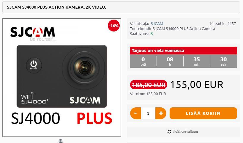 SJCAM SJ4000 plus action kamera