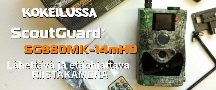 Scoutguard SG880MK-14mHD lähettävä ja etäohjattava Riistakamera