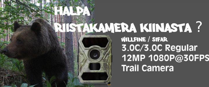 Lähettävä etäohjattava riistakamera Willfine C3.0