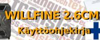 Willfine 2.6 Riistakameran ohjekirja on nyt käännetty Suomeksi